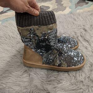 PINK Victoria's secret sequin slippers